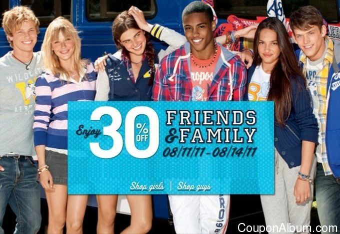 aeropostale friends & family sale