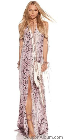 alexis claudia halter dress in purple python