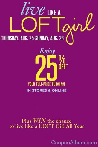 ann taylor loft coupon