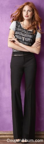 ann taylor loft top and pants