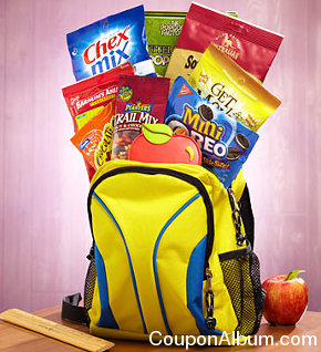 back to school snack backpack