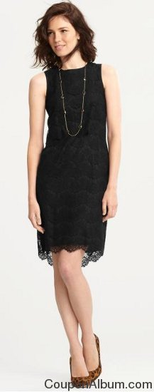 BR Monogram Lace Sheath Dress