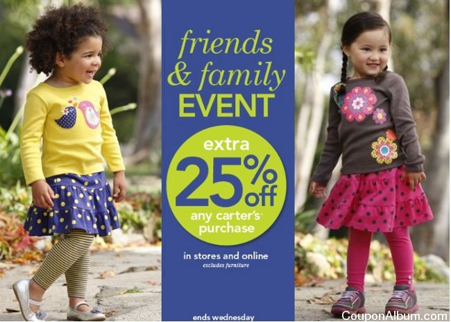 carters friends & family event