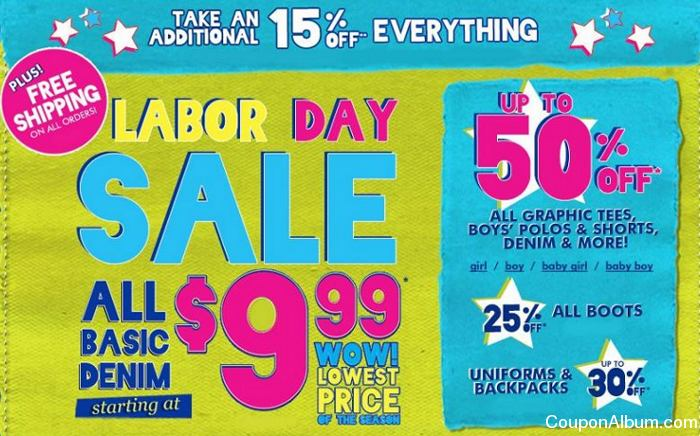 childrens place labor day sale