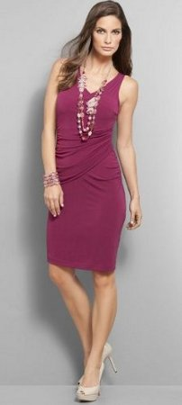 draped solid sleeveless dress