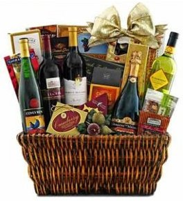 giant wine & champagne gift basket