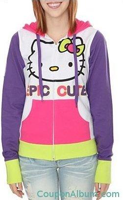 hello kitty epic cute girls hoodie