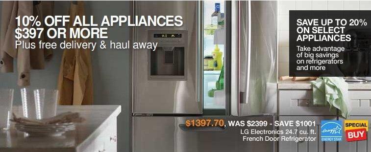 home depot appliances coupon