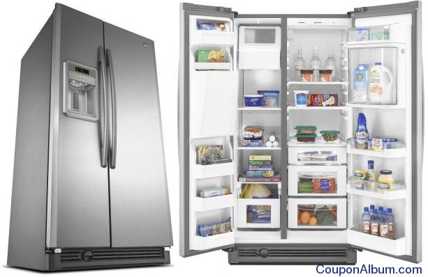 home depot deal- maytag side-by-side refrigerator