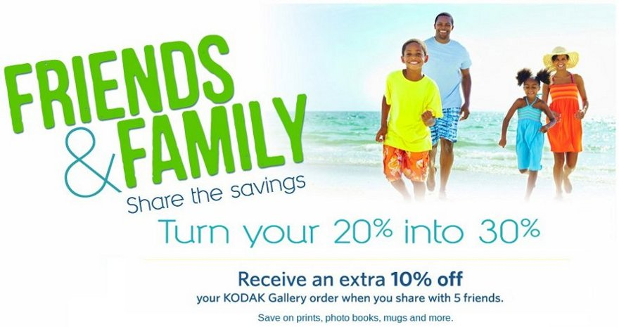 Kodak Gallery Friends & Family Event! | Online Shopping Blog