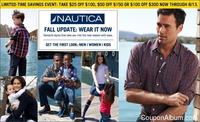 nautica limited-time savings event
