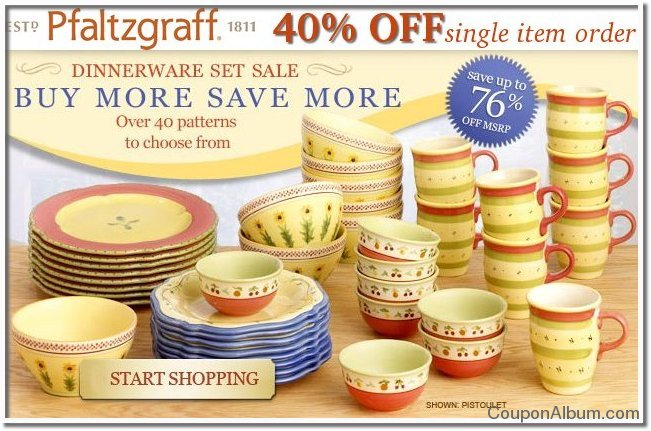 pfaltzgraff dinnerware set sale