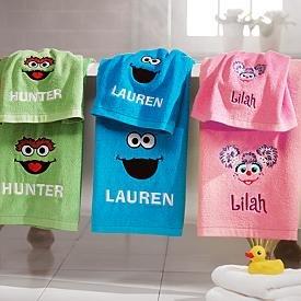 sesame street bath towels