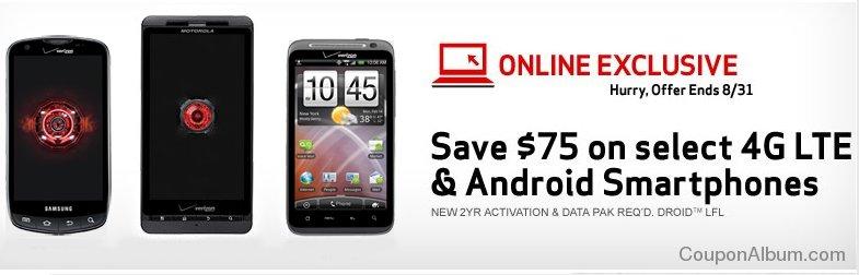 verizon wireless android smartphone sale