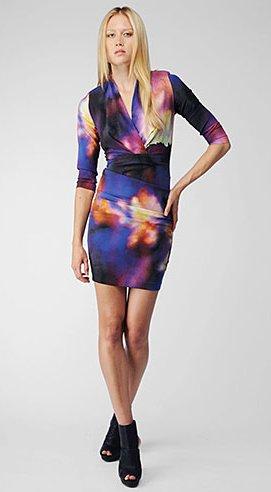 vibrant cloud v-neck dress