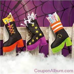 witch's shoe treat bags
