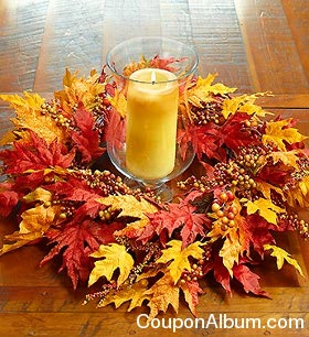 Autumn Leaf and Berry Wreath & Garland