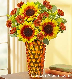 Fall Symphony Bouquet plus Free Amber Vase