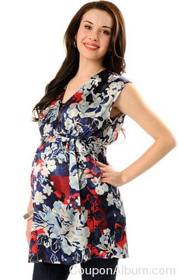 Sleeveless Belted Maternity Tunic