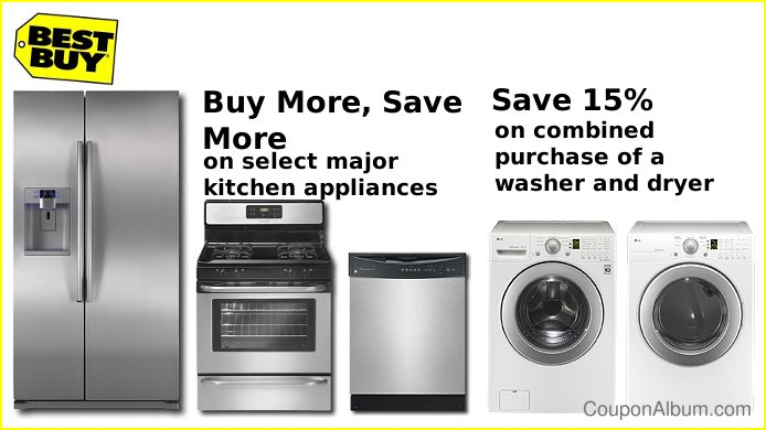 Best buy large appliance coupons