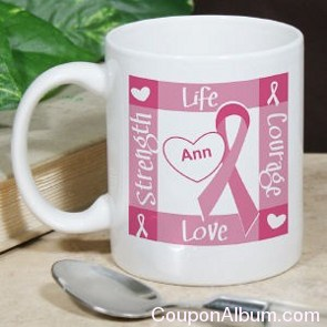 breast cancer awareness personalized coffee mug