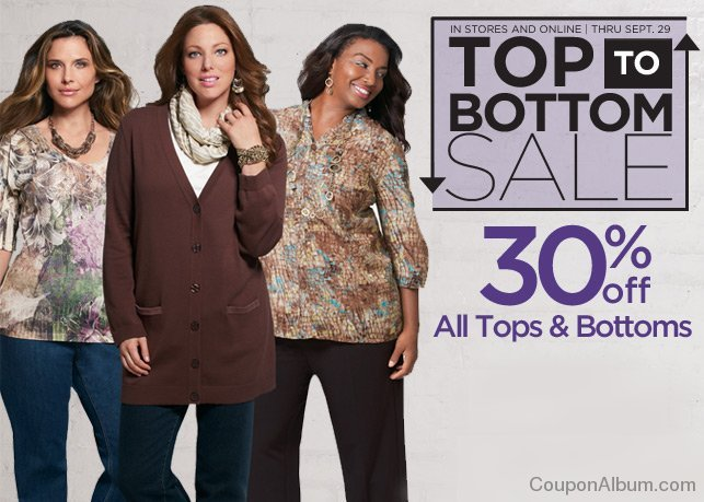 catherines top to bottom sale