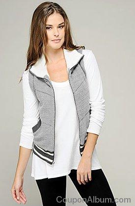 chevron stripe puffed vest