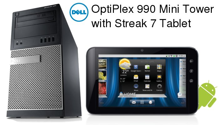 dell optiplex 990 mini tower with streak 7 tablet