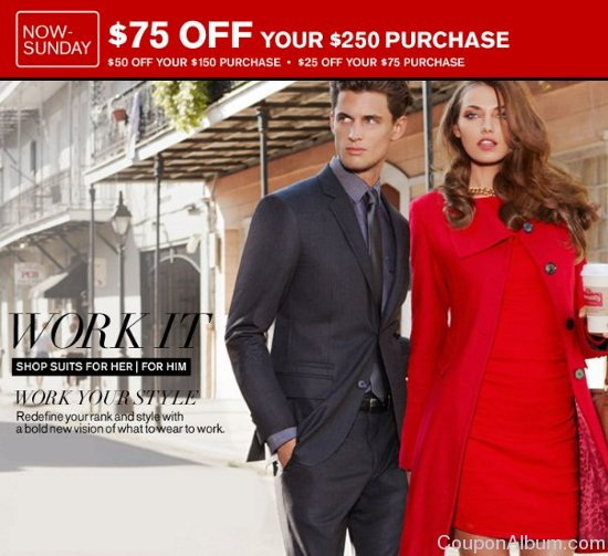 Express coupons suits