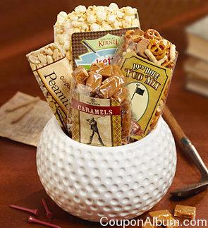 golfers choice big ceramic snack bowl