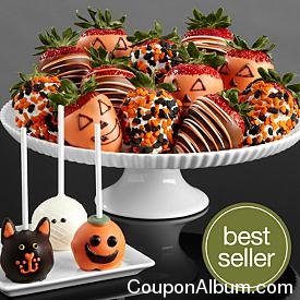 halloween brownie pops-halloween berries