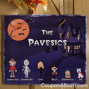 halloween character collection slate plaque