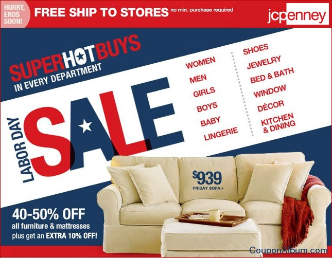jcpenney labor day sale