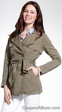 linen trenchcoat