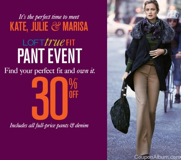loft true fit pant event