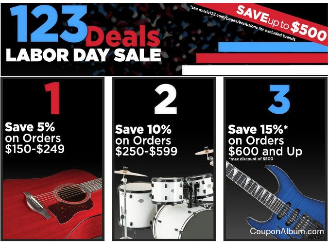 Music123 Labor Day Sale