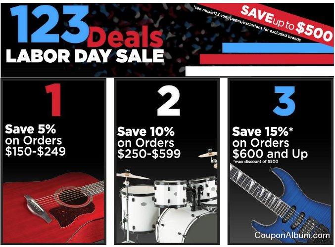 Music123 Labor Day Sale