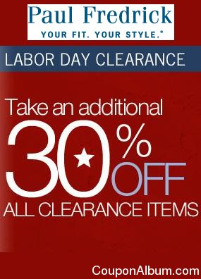 paul fredrick labor day clearance