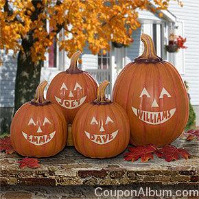 personalized jack-o-lantern pumpkins