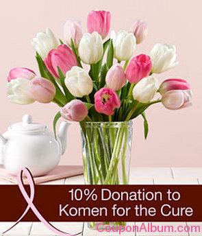 pink ribbon tulips