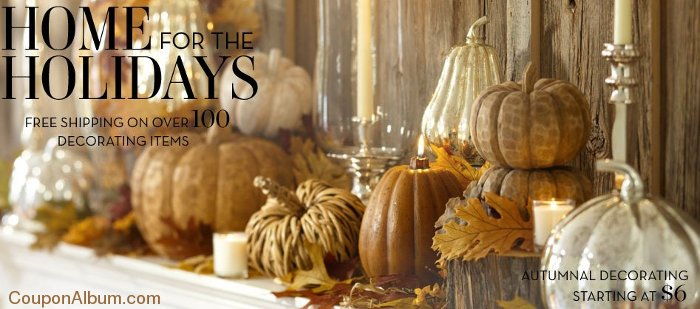 pottery barn autumnal decorating