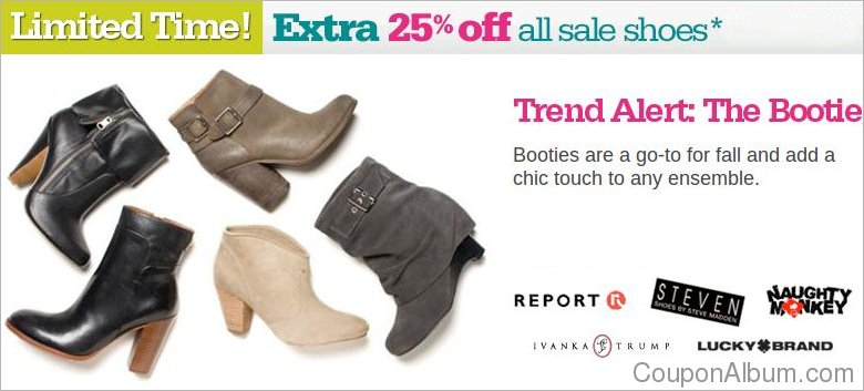 Shoes.com Labor Day Coupon: Extra 25% OFF Sale Shoes