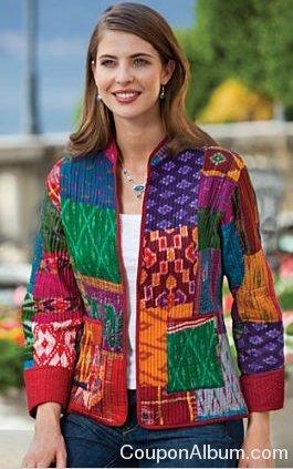 silk sari patch jacket