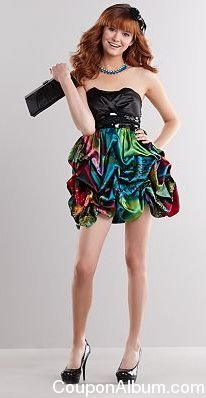 speechless rainbow paisley pick up-style strapless dress