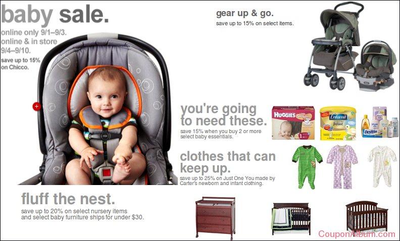 target baby sale