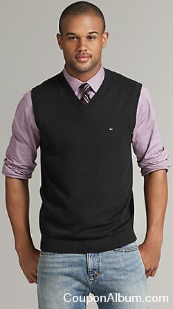 tommy hilfiger solid sweater vest