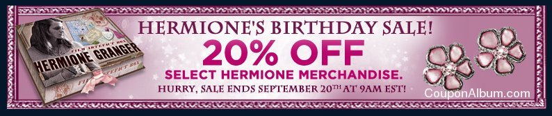 warner brothers hermione birthday sale