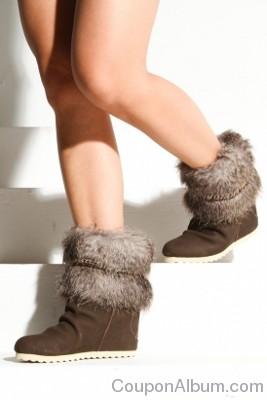women's cybill fur ankle bootie