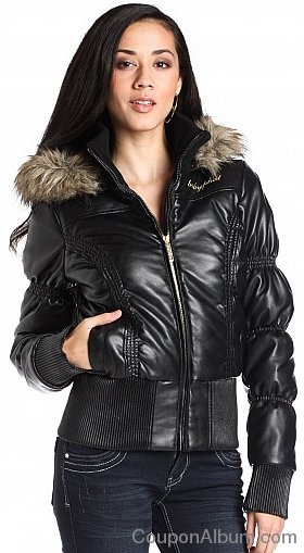 Baby Phat Cinched Pleather Coat