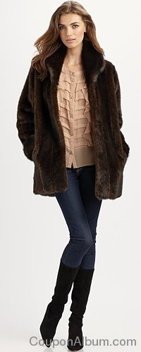 Donna Salyers for Saks Fifth Avenue Faux Fur Jacket